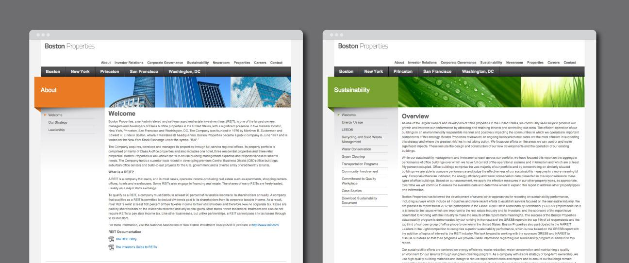 Boston Properties Website