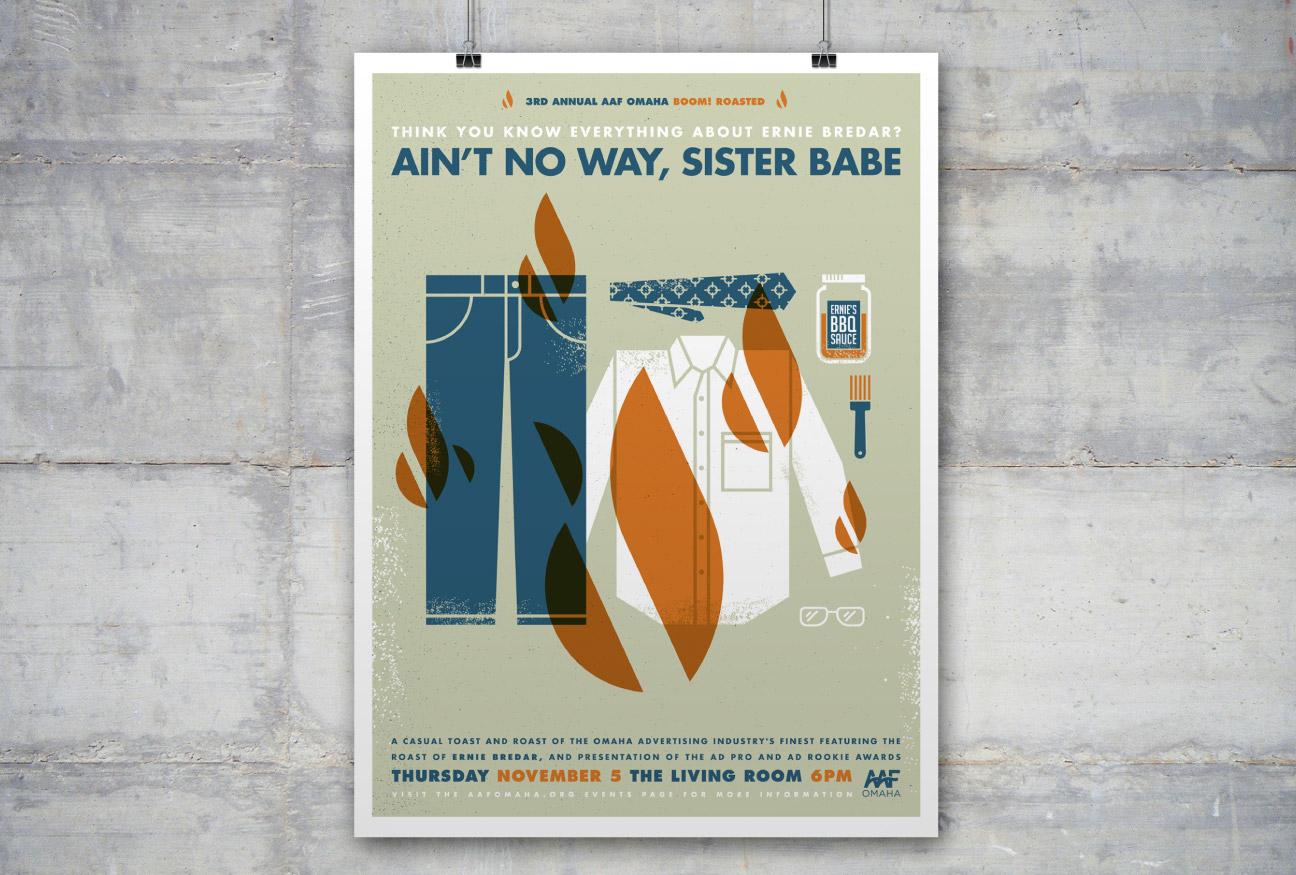 AAF Omaha Boom! Roasted poster