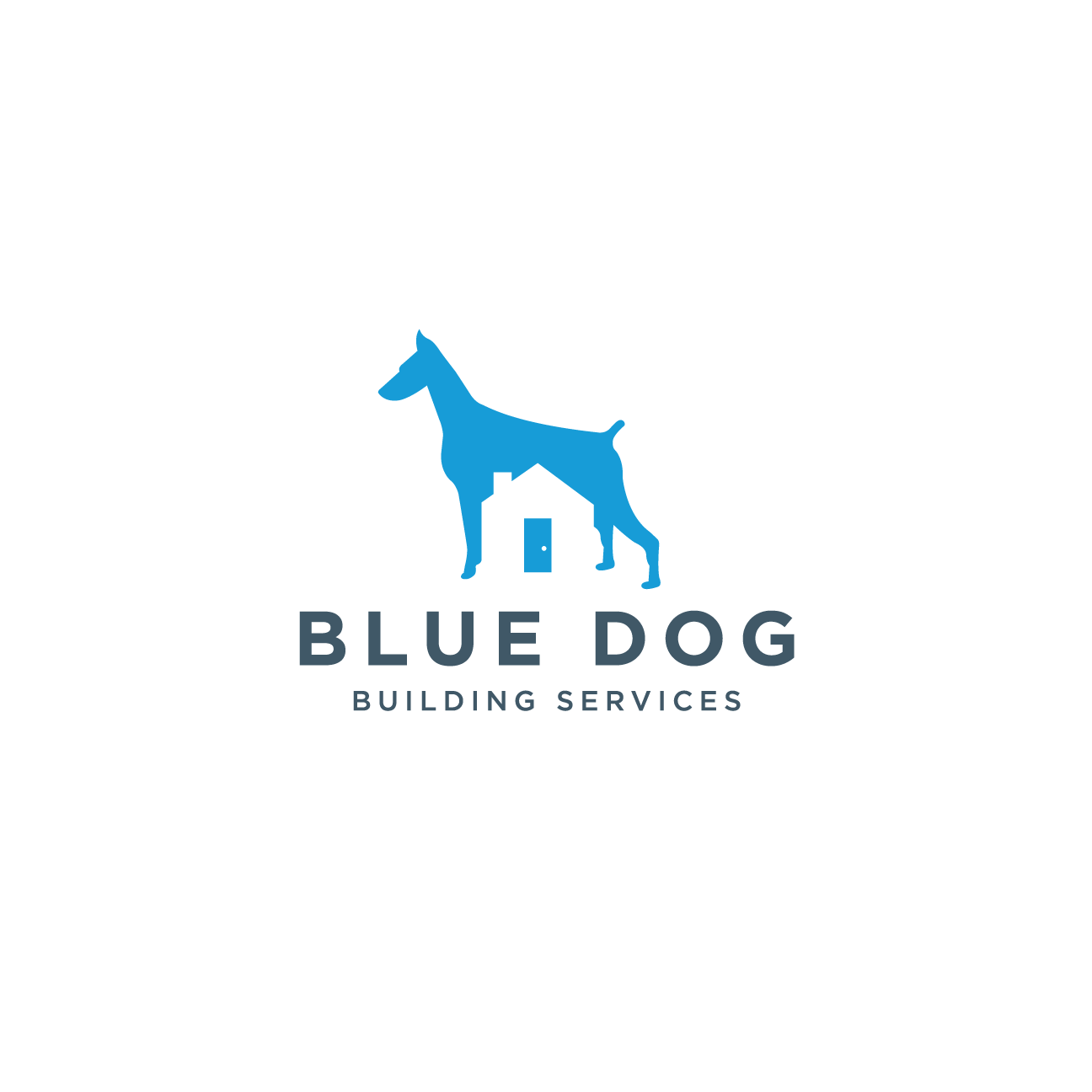 Blue Dog Building Services Logo