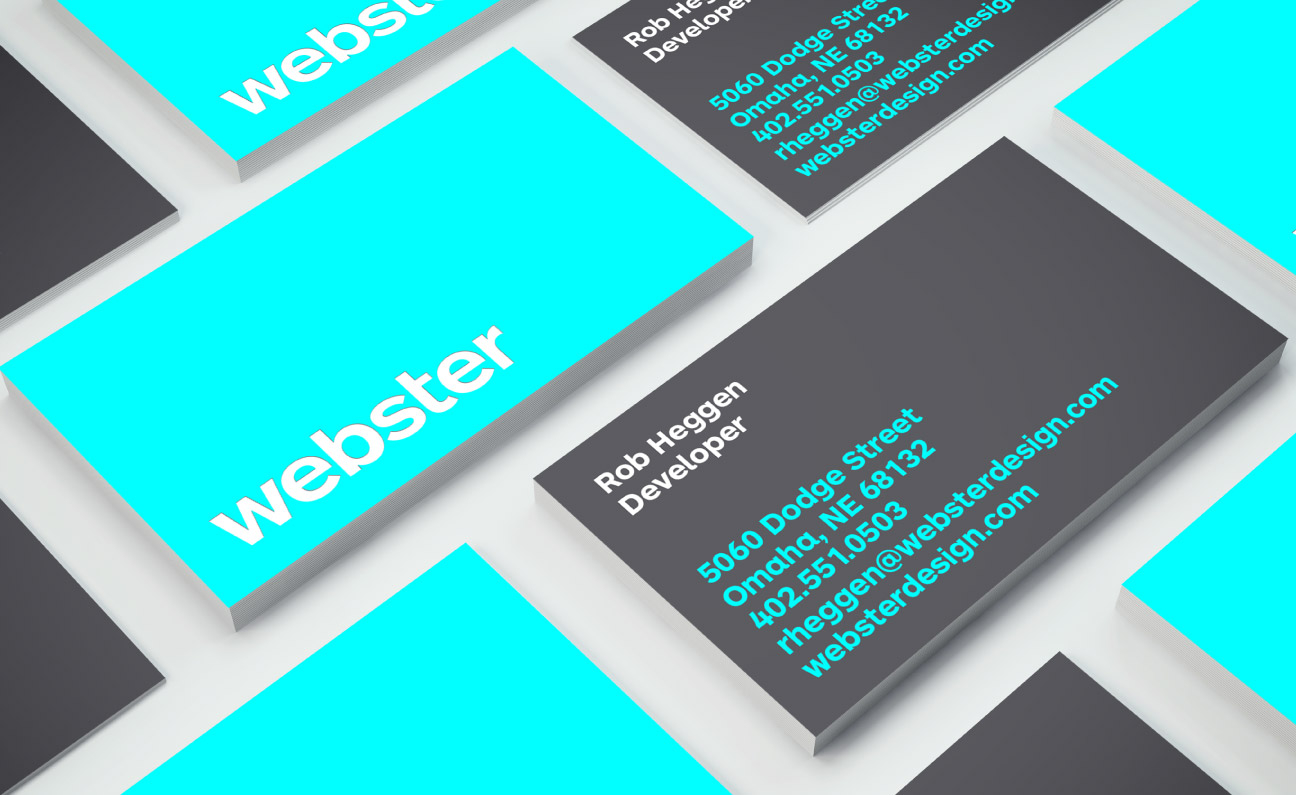 Webster Business Card Design